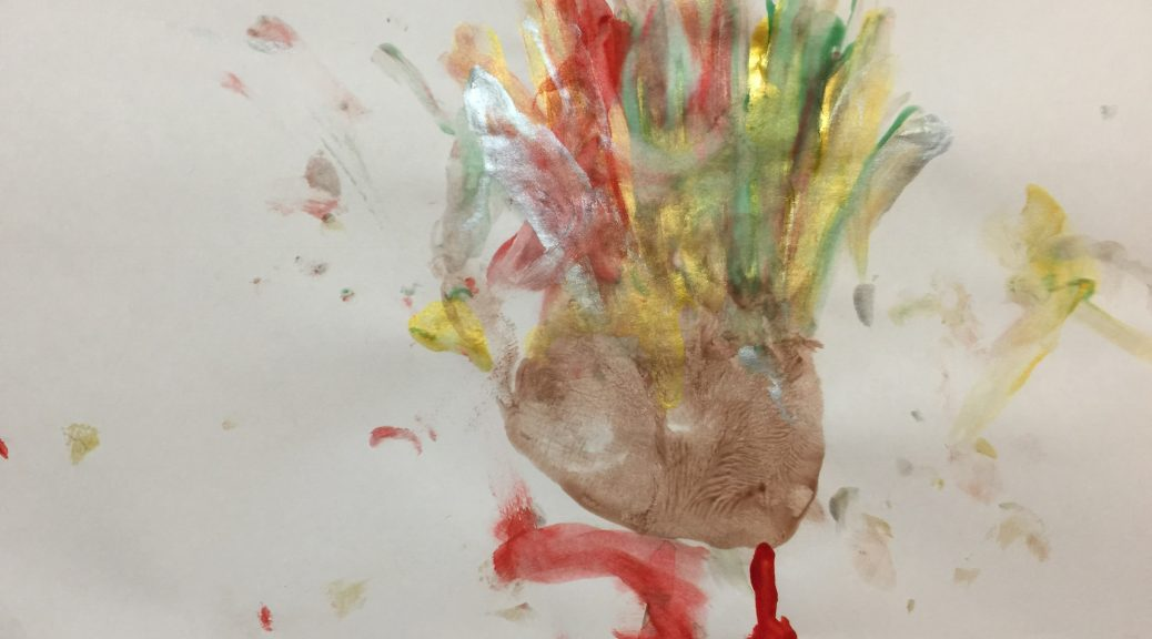 Declan's 2017 hand turkey