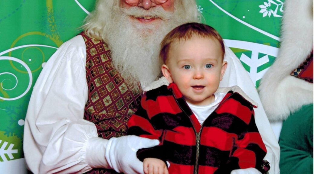 Declan at 13 months old with Santa